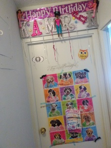 Kam's room door.
